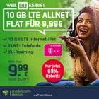 Bis 18 Uhr: Telekom green Allnet-Flat mit 10GB LTE (inkl. VoLTE & WLAN Call) für 9,99€ mtl.