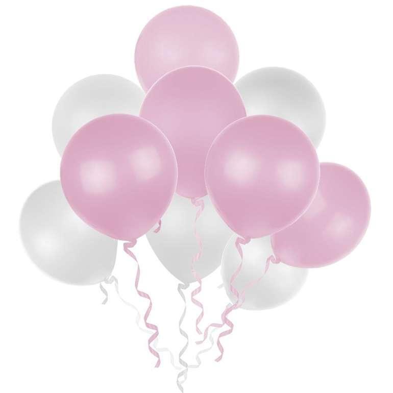 Lictin - 100 Luftballons (weiß & rosa) für 3,99€ inkl. Prime Versand