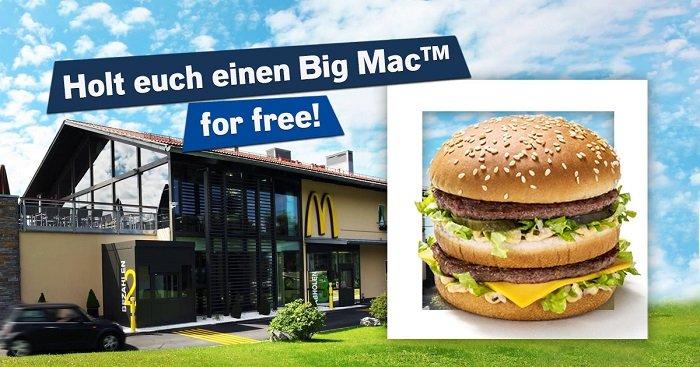 gratis Big Mac Mc Donalds