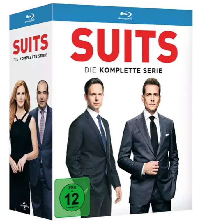 Suits - Die komplette Serie Blu-ray für 61,09€ inkl. Versand (statt 75€)