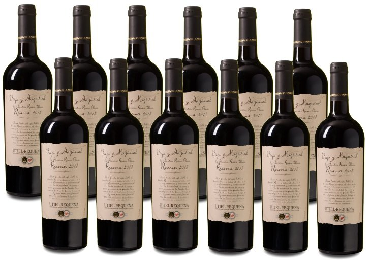 Top! 12 Flaschen Viejo y Magistral - Utiel-Requena DOP Reserva 2013 für 51,88€
