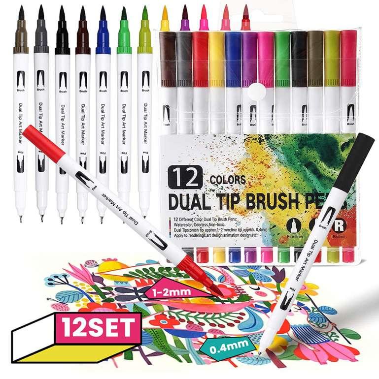 Joseko Pinsel Filzstifte in 12 Farben Stifte für 5,84€ inkl. Prime Versand (statt 13€)