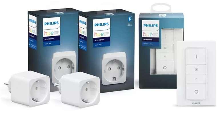 2er Pack Philips Hue Smart Plug + Hue Dimmschalter Set für 49,99€ inkl. Versand (statt 75€)