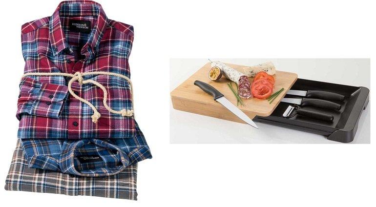 Henson&Henson 3er Pack Flanellhemden für 39,99€ inkl. Versand (statt 72€) + 5-teiliges Küchenset