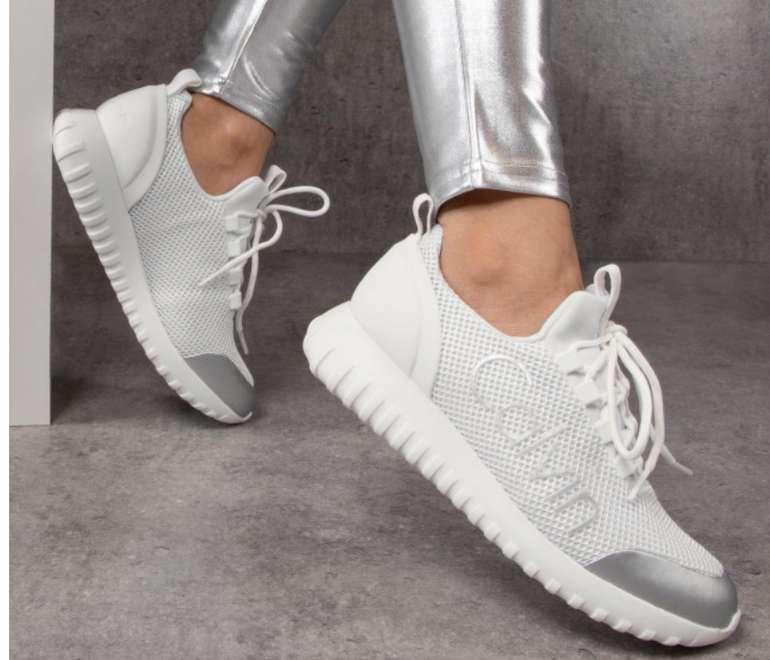 """Calvin Klein Jeans """"Reika"""" Damen Sneaker in weiß und silber für 65,24€ inkl. Versand (statt 78€)"""