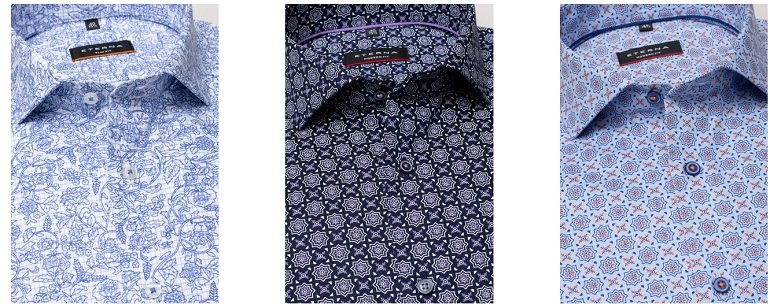 3 Eterna Slim Fit-, Super Slim- & Modern Fit Hemden