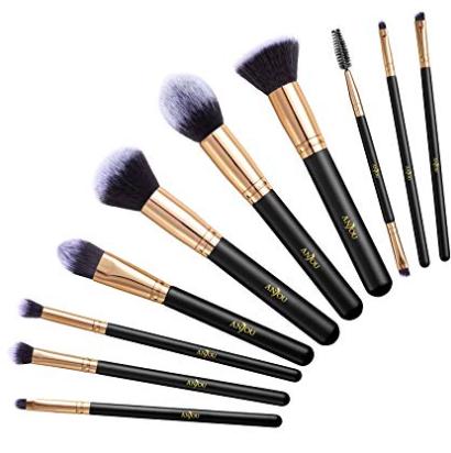 10-teiliges Anjou Make-up Pinselset für 7,99€ inkl. Prime Versand (statt 10€)