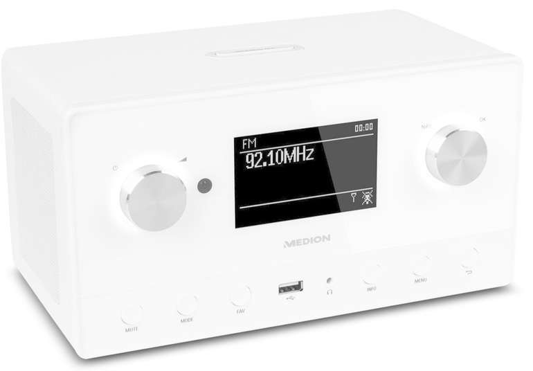 """Medion """"P85066"""" WiFi Stereo Internet-Radio, DAB+/UKW-Empfänger für 69,95€"""