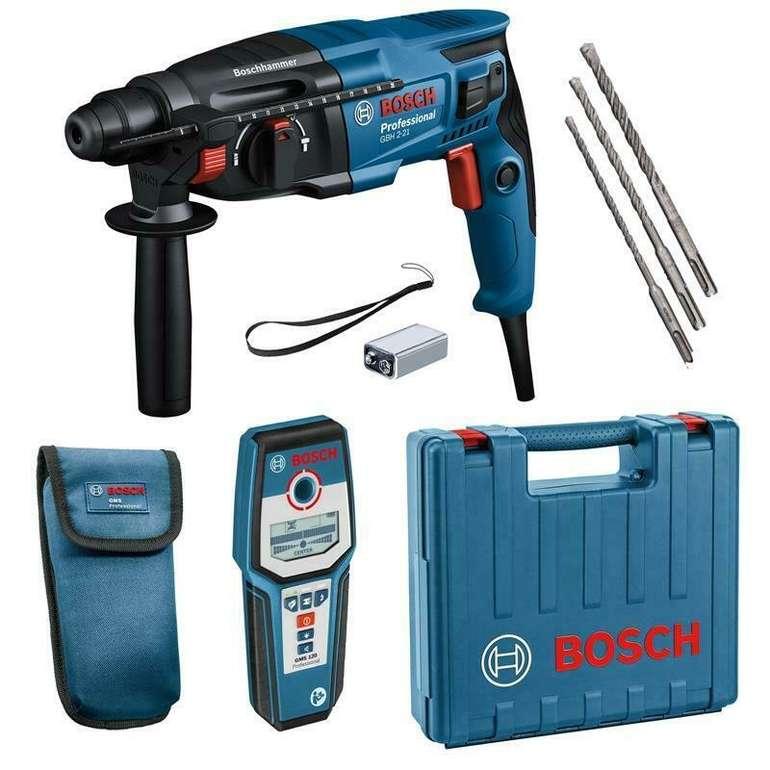 Bosch GBH 2-21 Bohrhammer inkl. Koffer + GMS 120 Leitungssucher für 159,95€ (statt 193€)