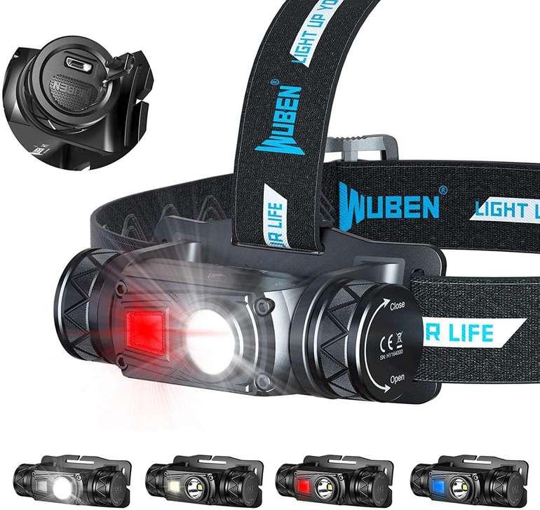 Wuben Stirnlampe (1200 Lumen,10 Modi, IP68) für 16,99€ inkl. Versand (statt 25€)