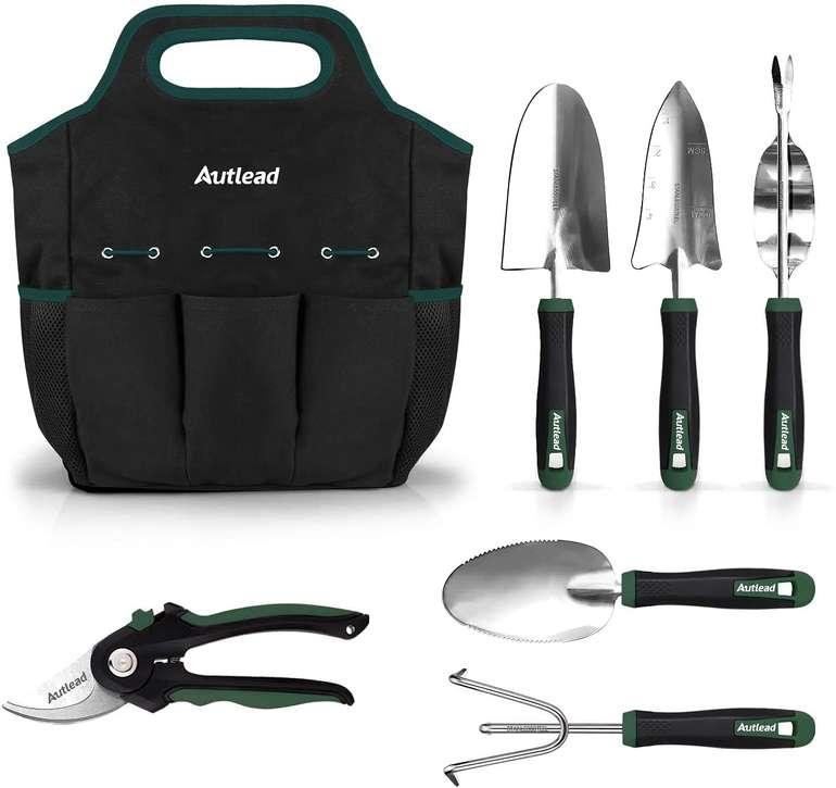 Autlead 7tlg. Gartenwerkzeug-Set aus Edelstahl für 25,99€ inkl. Prime-Versand (statt 40€)