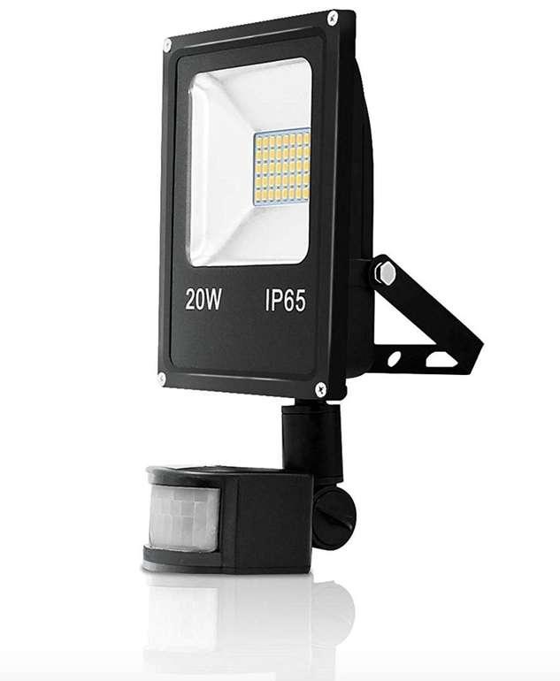 Vingo 20W LED-Strahler mit Bewegungsmelder (IP65-Schutz, 1700Lm, 6500K) für 10,99€ inkl. Prime Versand