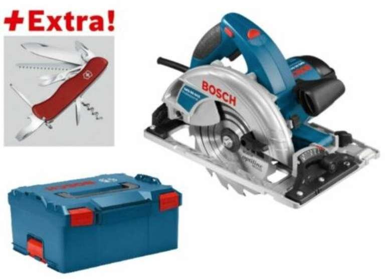Bosch GKS 65 GCE Handkreissäge + L-Boxx + Gratis Victorinox Taschenmesser für 224,95€ (statt 250€)