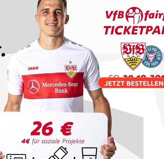 Charity-Ticket-Aktion: VfB Stuttgart – Holstein Kiel am 20.10.2019 für 26€