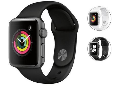 Apple Watch Series 3 (GPS) 38mm Schwarz für 255,90€ inkl. Versand