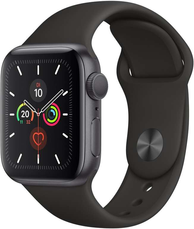 Apple Watch Series 5 44mm Smartwatch in Space Grey für 345,80€ (statt 386€) - Newsletter Gutschein!