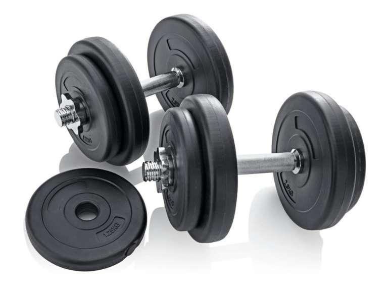 Hantelset (20 kg) für 31,99€ (statt 40€) oder Hantelset 30 kg 2in1 für 63,99€ (statt 80€) inkl. Versand