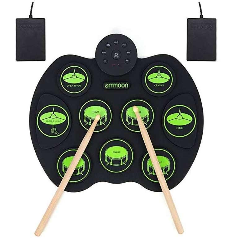 Ammoon E-Drum - Elektronisches Schlagzeug Kit mit 9 Pads für 29,49€ (statt 59€)