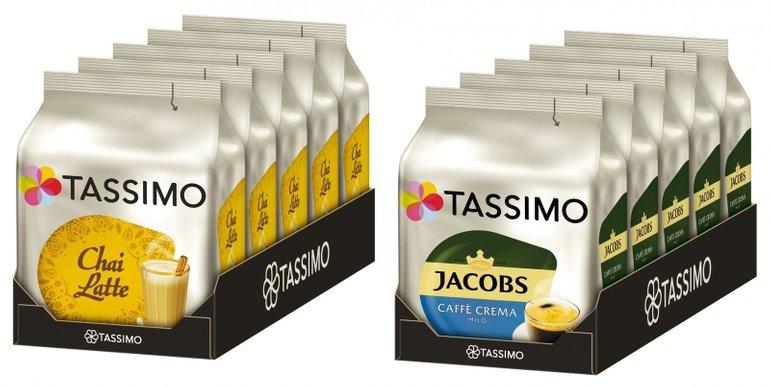 5er Pack Tassimo Chai Latte oder Caffé Crema Mild für je 14,99€ (statt 30€)