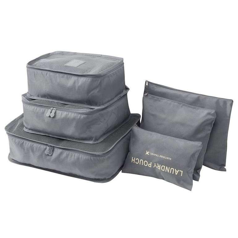 Moretime - 6-teiliges Kofferorganizer Set in verschiedenen Farben für je 6€ inkl. Versand (statt 10€)