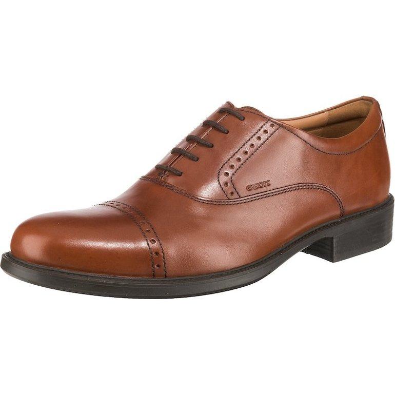 Schnell? Geox Business Leder-Schnürschuh in braun für 43,34€ inkl. VSK