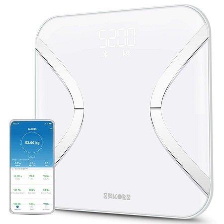 Sakobs Körperfettwaage mit App-Steuerung für 20,34€ inkl. VSK