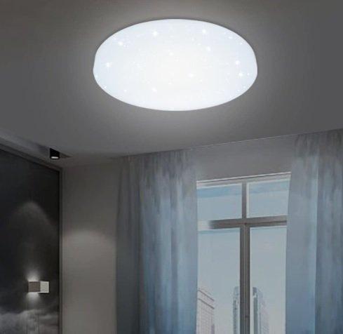 Vingo LED-Deckenleuchte (12W, Weiß, Starlight-Effekt) für 13,29€ inkl. Prime Versand (statt 19€)