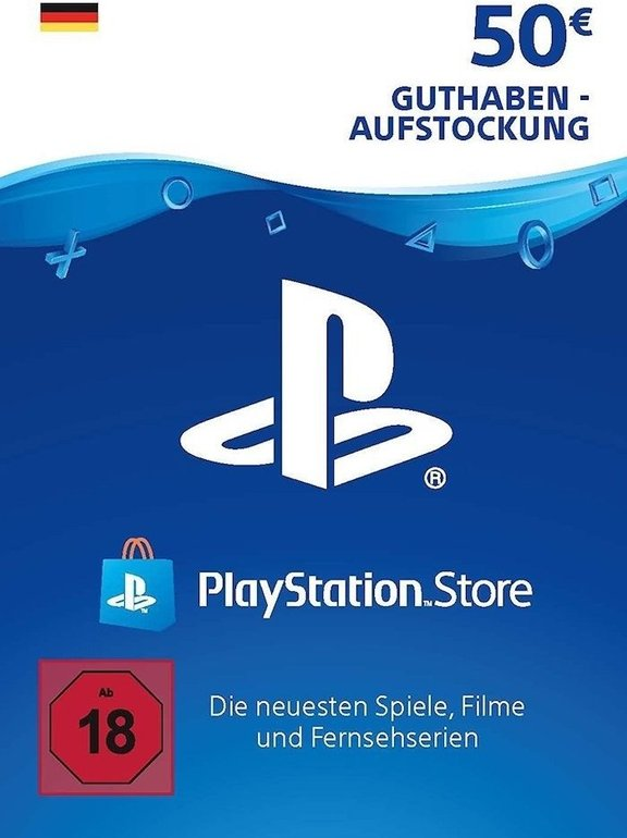 50€ Sony PlayStation Network Card für 39,28€ (statt 47€) - Per VISA Zahlung!