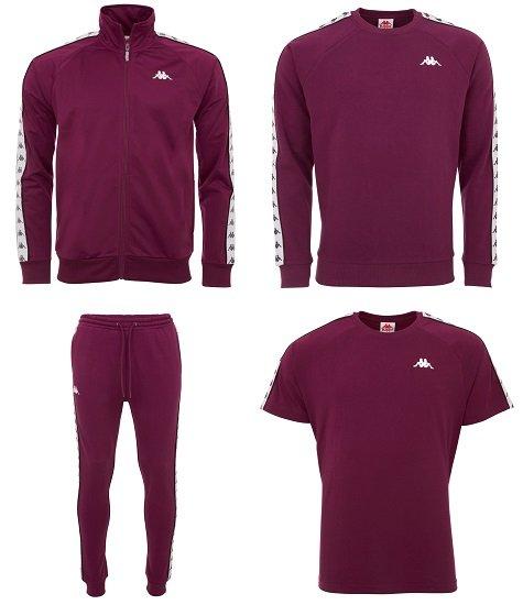 Komplettes Kappa Outfit (Trainingsjacke + Sweatshirt + Shirt + Jogginghose) für 62,13€
