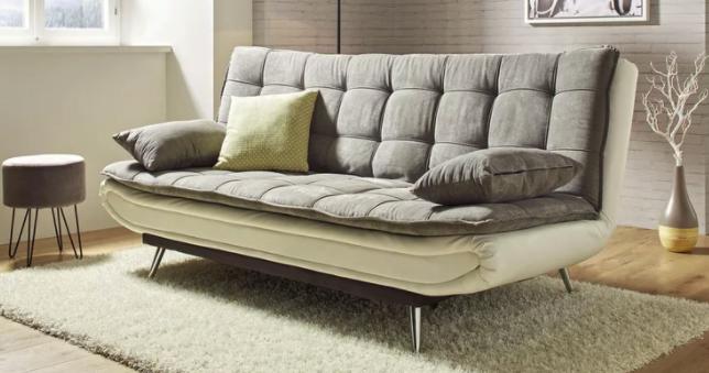 Modern Living Schlafsofa in Grau mit Bettfunktion in grau/weiß für 209,30€ inkl. Versand (statt 339€)