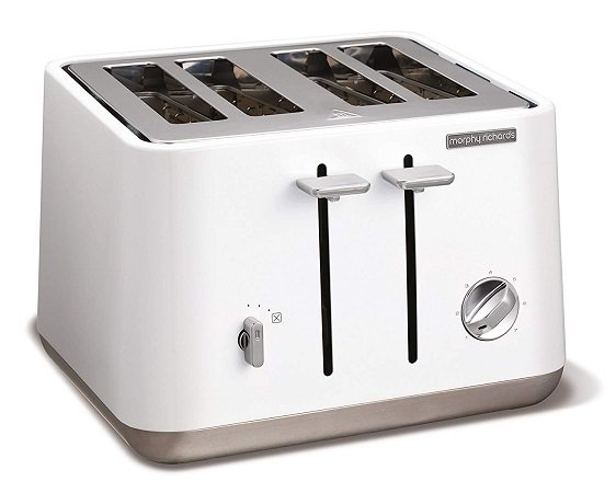 Morphy Richards 240003 Aspect Toaster Weiß (1800 Watt, Schlitze: 4) für 39€