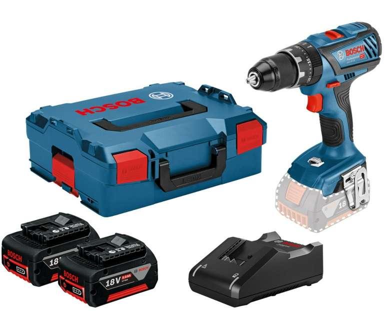 Bosch Professional GSR18V-28, 2x 5Ah in L-Boxx für 233,10€ inkl. Versand (statt 259€)