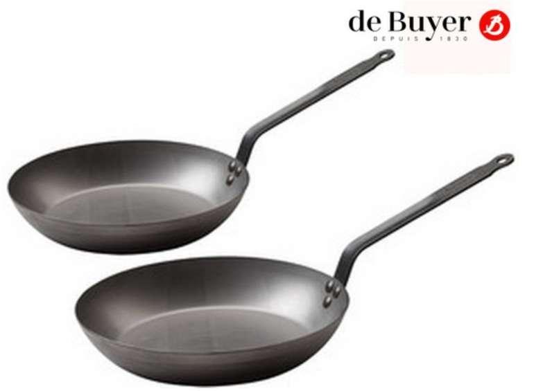 De Buyer 2er Pfannenset (Eisen, 24 und 28 cm) für 35,90€ inkl. Versand (statt 53€)