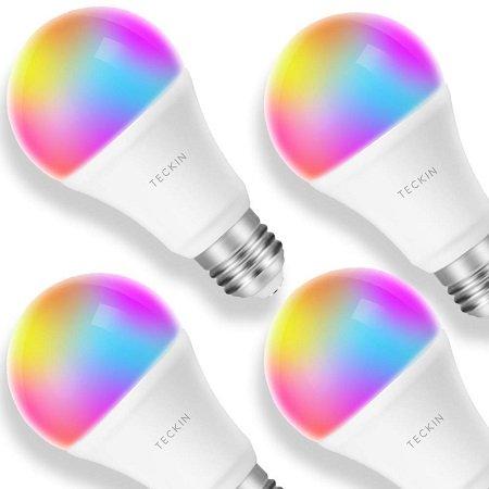 4er Pack TECKIN E27 LED RGB Wifi Lampen für 33,10€ inkl. VSK