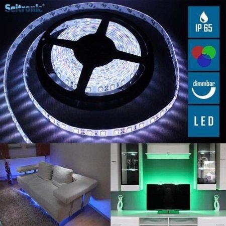 Seitronic 5m LED RGB IP65 Lightstrip mit Fernbedienung für 14,90€ inkl. VSK