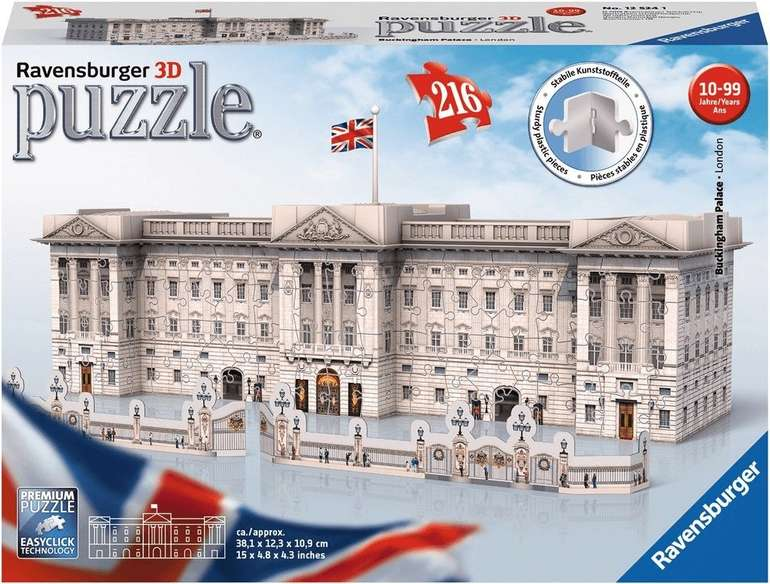Ravensburger Buckingham Palace 3D-Puzzle (12524) für 14,99€ inkl. Prime Versand (statt 26€)