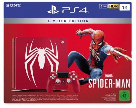 Sony PS4 Slim Konsole (1TB) Limited Edition inklusive Spider-Man für 349€