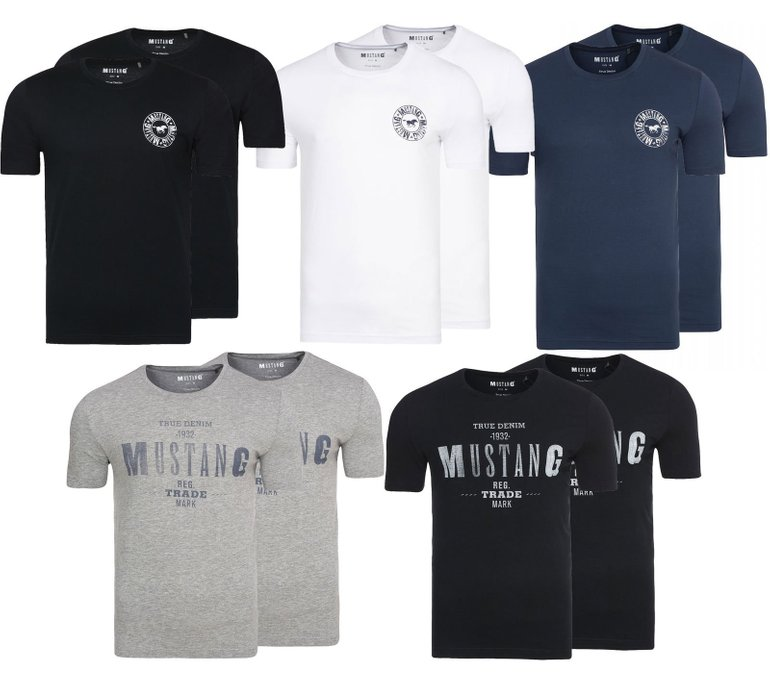 2er Pack Mustang True Denim Herren T Shirts für 17,99€ inkl.…