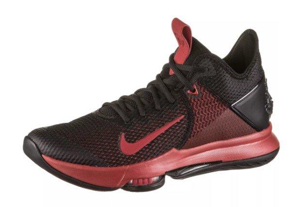 Nike LeBron Witness IV Basketballschuhe in Schwarz-Rot für 58,90€ inkl. Versand (statt 84€)