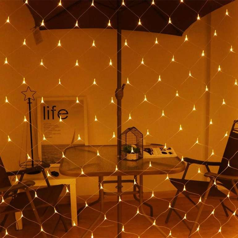 -30% auf Hengda Lichternetze für Innen & Außen, z.B. 4,5 x 1,6 Meter für 17,49€