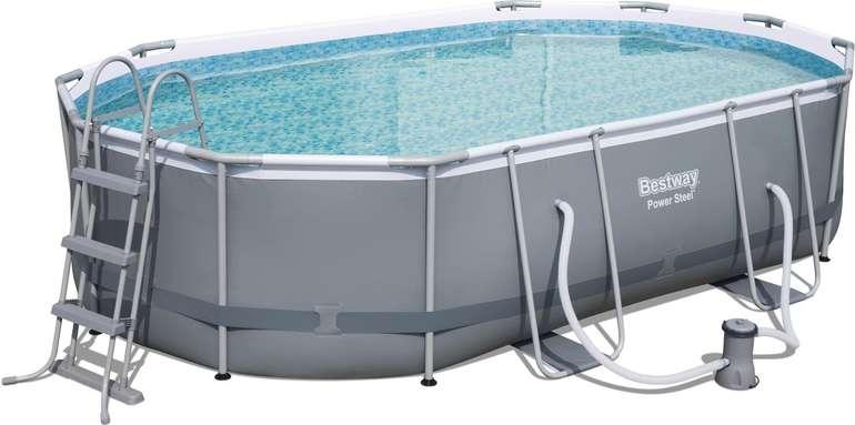 Bestway Power Steel Frame Pool (488 x 305 x 107 cm) mit Kartuschenfilter für 349€ (statt 432€)
