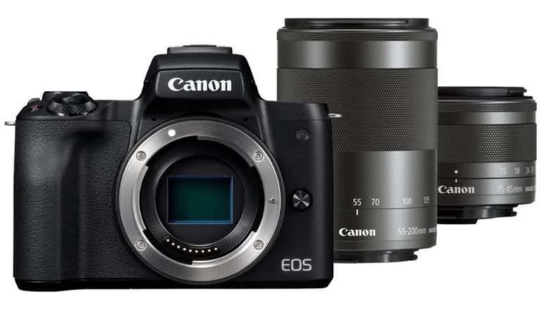 Canon EOS M50 Systemkamera 15-45mm STM + 55-200mm STM Objektiv für 649€ (statt 850€)