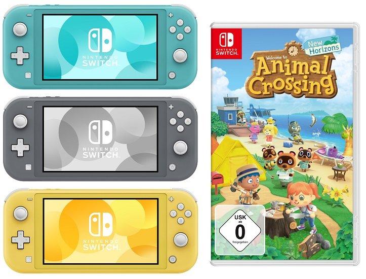 Nintendo Switch Lite Konsole + Animal Crossing: New Horizons für 227,67€ (statt 257€) - NL-Gutschein!