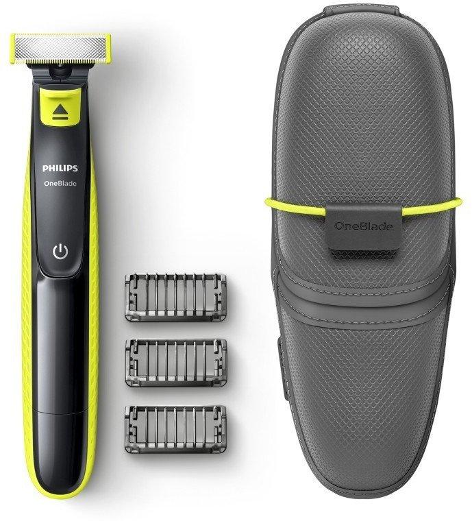 Philips Oneblade QP2520/65 Barttrimmer mit 3 Trimmeraufsätzen & Reisetasche für 33,84€ (statt 49€)