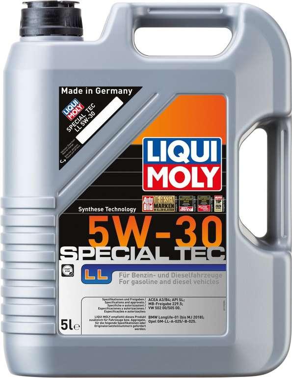 Liqui Moly Leichtlauf Special LL 5W-30 (5 Liter) Auto Motoröl für 27,85€ inkl. Prime Versand (statt 38€)