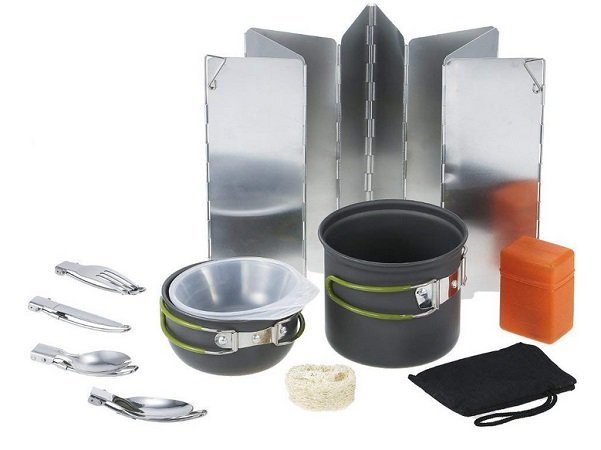 Tomshoo - Camping Outdoor Kochgeschirr-Set mit viel Zubehör für 14,80€