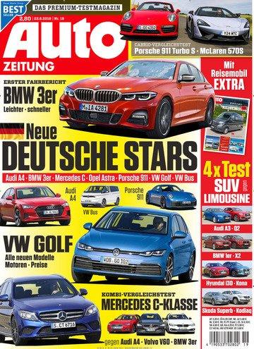 Auto Zeitung im Jahresabo für 80€ + 80€ Verrechnungsscheck