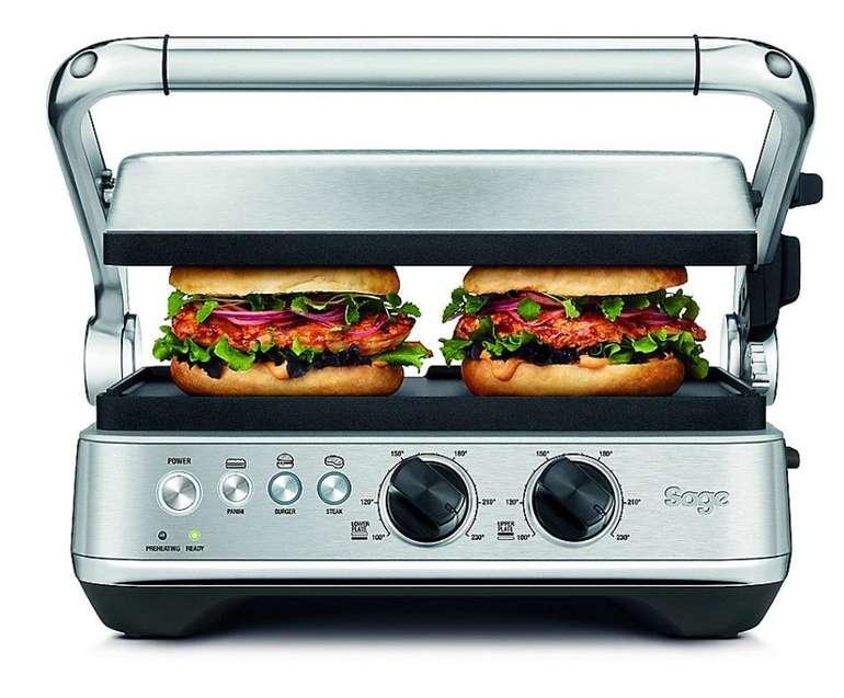 Sage SGR700 BBQ & Press Grill (1800W, 3 Programme, 25x30cm Grillfläche) für 129€ (statt 168€)