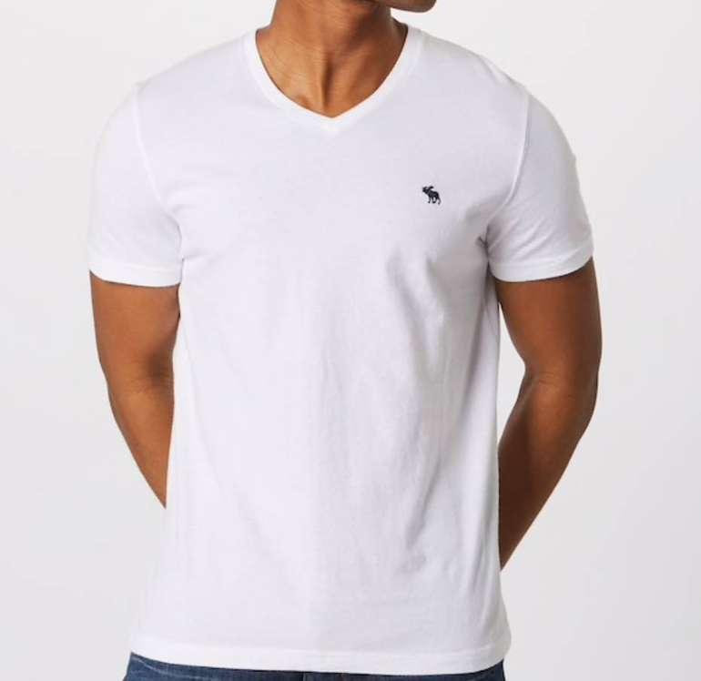 """3er Pack Abercrombie & Fitch Herren Shirt """"GLBL V Neck"""" in weiß für 38,17€"""
