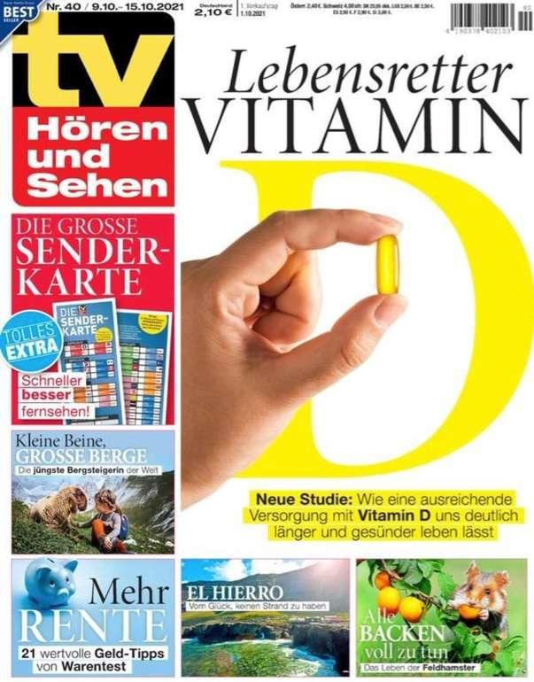 26 Ausgaben TV Hören und Sehen + 50er Pack BBE Solutions FFP2 Masken + 50€ Bestchoice Gutschein für 65€